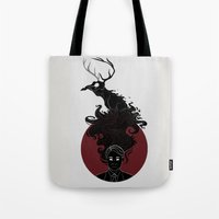 hannibal Tote Bags featuring Hannibal by Sutexii