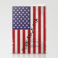 punk rock Stationery Cards featuring Punk Rock USA by Shalisa Photography