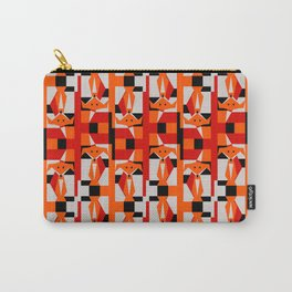 Geometric Dancing Foxes Carry-All Pouch