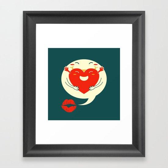 say u love me Framed Art Print