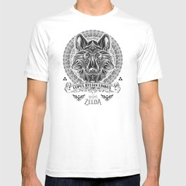 Legend of Zelda Twilight Wolf Link Line Art T-shirt