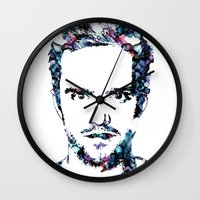 jesse pinkman Wall Clocks featuring Jesse Pinkman by NKlein Design