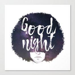 Afro night Canvas Print