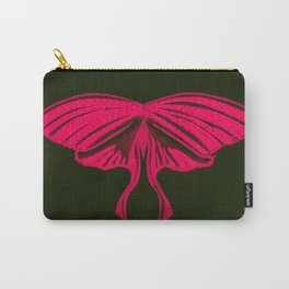 Red and Black Luna Moth Butterfly Carry-All Pouch