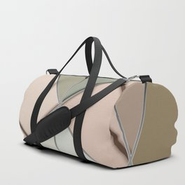 Mosaic tiled glass with black rays Duffle Bag
