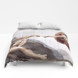 The Creation Of Adam Comforters