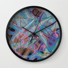 Colorful Abstract Stained Glass G302 Wall Clock