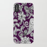 burgundy iPhone & iPod Cases featuring Burgundy by Marcela Caraballo