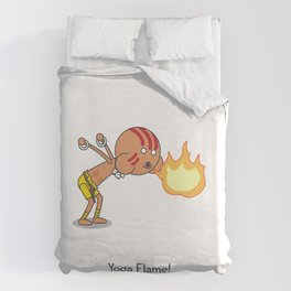 Yoga Flame! Duvet Cover
