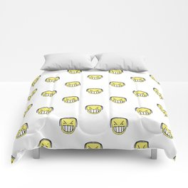 Angry Emoji Graphic Pattern Comforters