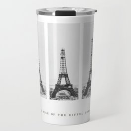 1888-1889 The Rise of the Eiffel Tower Construction Sequence black and white photography Travel Mug