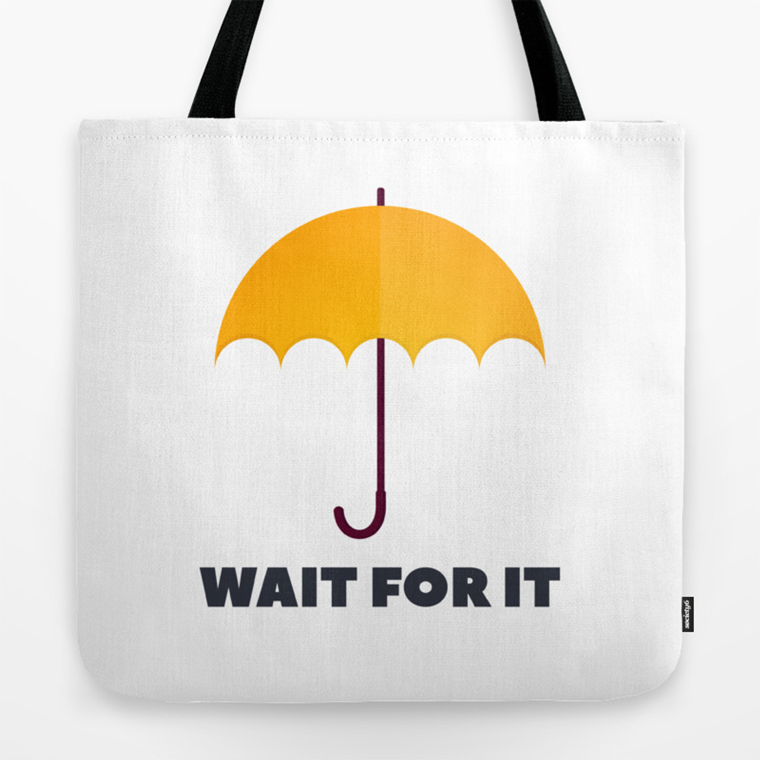 How I Met Your Mother Wait For It Yellow Umbrella Tote Bag By