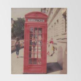 London Telephone Booth Throw Blanket