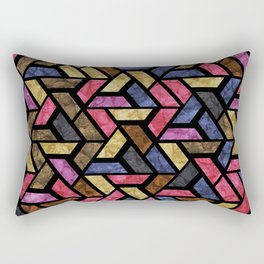 Seamless Colorful Geometric Pattern XIII Rectangular Pillow