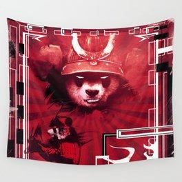 Red Panda Ronin Wall Tapestry