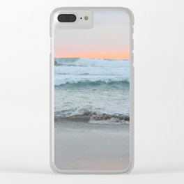 Dreamy Pastel Sunset Clear iPhone Case