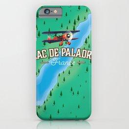 Lac de Paladru France travel map iPhone Case