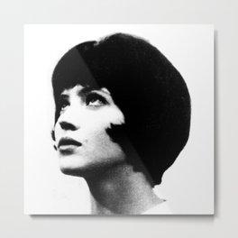 Anna Karina Black and White French New Wave Metal Print