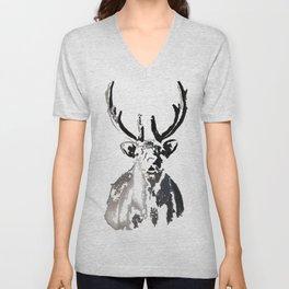 High arctic reindeer Unisex V-Neck