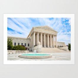 US Supreme Court Building Art Print