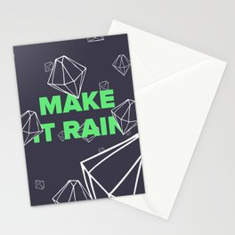 Make it Rain Diamonds Stationery Cards