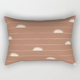 Horizon Line in Clay and Ivory Rectangular Pillow
