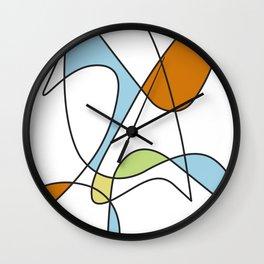 Mid Century Modern Abstract Design Wall Clock