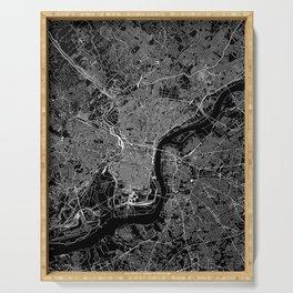 Philadelphia Black Map Serving Tray