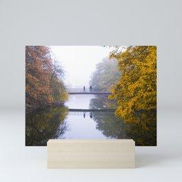 Autumn bridge Mini Art Print