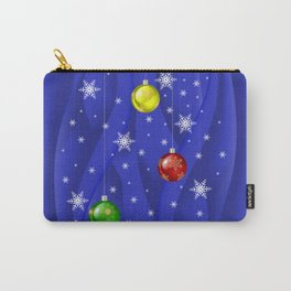 Christmas balls with background Carry-All Pouch
