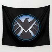 shield Wall Tapestries featuring Shield by livinginamovie