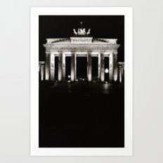 Light Pillars Art Print