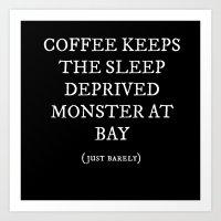 coffe Art Prints featuring Coffe Slave by Nola Montgomery