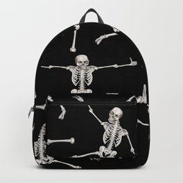 Halloween Skeleton Pattern in Black and White Backpack