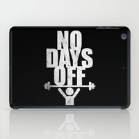 workout iPad Cases featuring Lab No. 4 - No days Off Gym Routine Workout Quotes Poster by Lab No. 4