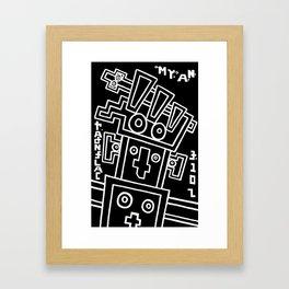 my.a.n. calendar. Framed Art Print