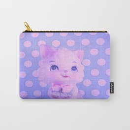 Polka dot kitty  Carry-All Pouch