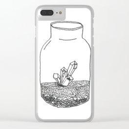 crystal terrarium Clear iPhone Case