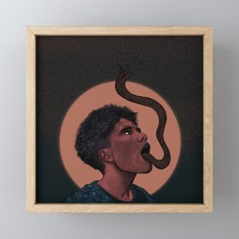 The Girl with the Dragon Tongue Framed Mini Art Print