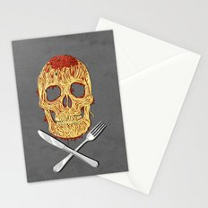 Spaghetti Skull Stationery Cards