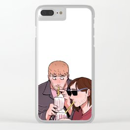 Stucky date Clear iPhone Case