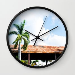 Rusted Roof Wall Clock