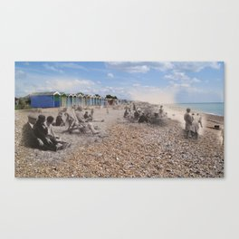 5/ Ghosts Of Rustington : The Beach by Claire Davey Canvas Print