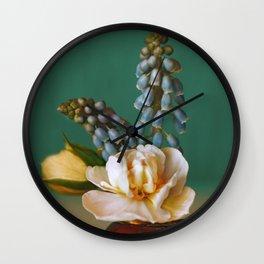 Small flowers(4). Wall Clock