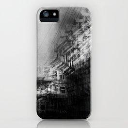 city in monochrome iPhone Case