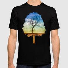 ATMOSPHERIC TREE | Autumn Light Mens Fitted Tee MEDIUM Black