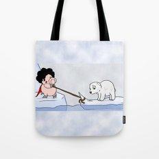 Saving the polar bears Tote Bag