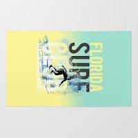surf Area & Throw Rugs featuring surf by ulas okuyucu