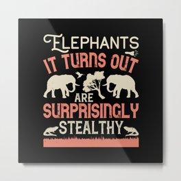 Elephant Quote - 11 Metal Print