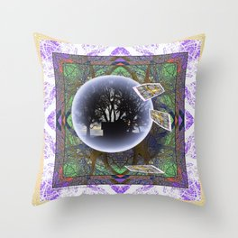 MANDALA OF PLACE AND ECONOMY Throw Pillow
